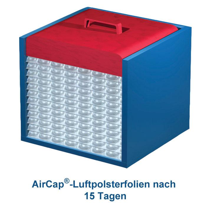 aircap luftpolsterfolie mit sperrschicht 150 cm x 100 m kleine noppe verpackungsmaterial. Black Bedroom Furniture Sets. Home Design Ideas