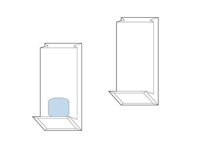 Blockbodenbeutel aus Natronpapier