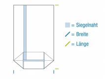 OPP-Kreuzbodenbeutel, hochtransparent - 30 µ - unbedruckt