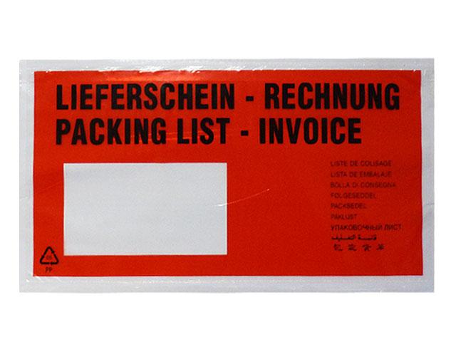 Lieferscheintaschen DIN Lang - Lieferschein / Rechnung