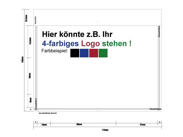 Lieferscheintaschen bedruckt - DIN C6 - mit Ihrem individuellen Firmenlogo
