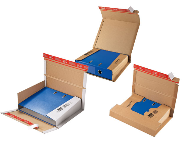 Ordner-Versandverpackungen ColomPac CP 050 und CP 055