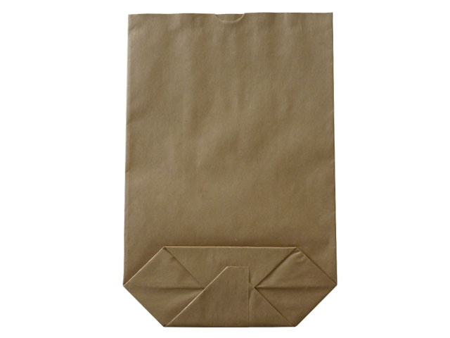 Kreuzbodenbeutel aus Kraftpapier