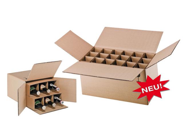 Flaschenkartons für 0,33l - 0,5l - Flaschen