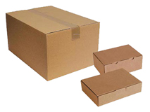 Kartons und Zubehör