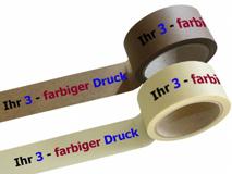 bedrucktes Papierselbstklebeband, mit 3-farbigen individuellem Druck