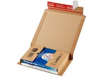 ColomPac CP 021 klassische Buchverpackung in schlanker E-Welle - braun