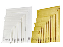 Luftpolsterversandtaschen Mail Lite Weiss / Gold