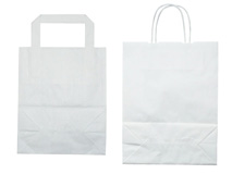 Tragetaschen aus weißem Papier