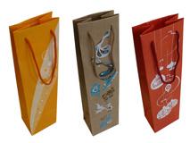 Tragetaschen aus Papier für Wein- und Sektflaschen