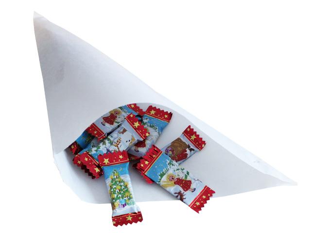 Spitztüten aus weißem Cellulose-Papier
