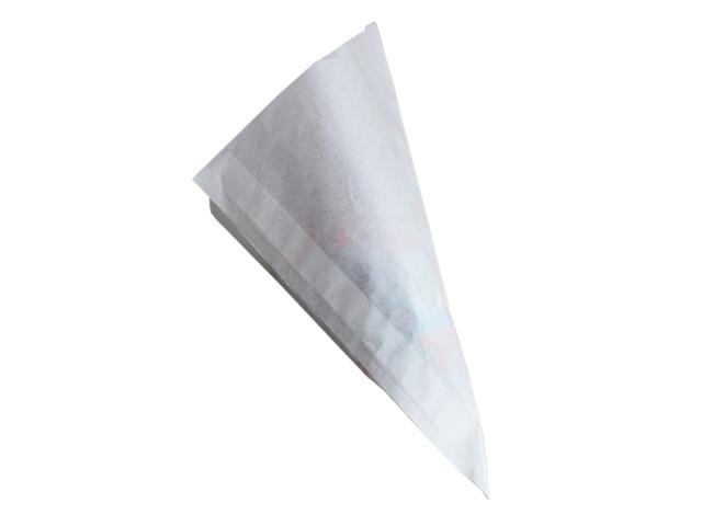 Spitztüten aus weißem Pergament-Ersatzpapier