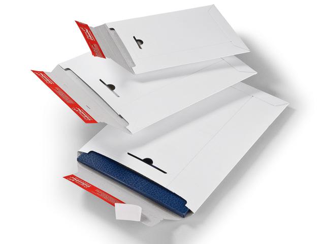 ColomPac CP 012 Versandtaschen aus Vollpappe - weiß