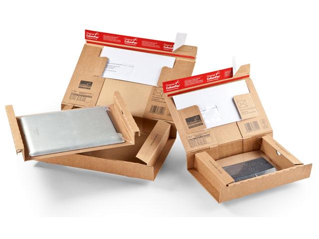 Versandkartons aus WellPappe für Notebook - Smartphone - Tablet ColomPac CP 140 und FT 140