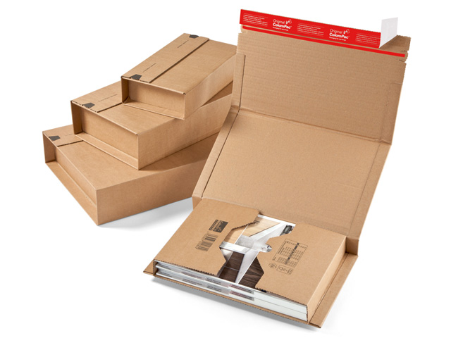 ColomPac CP 020 klassische Buchverpackung in starker B-Welle - braun