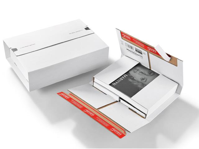 ColomPac CP 037 Buchverpackung mit doppeltem SK-Verschluss - weiß