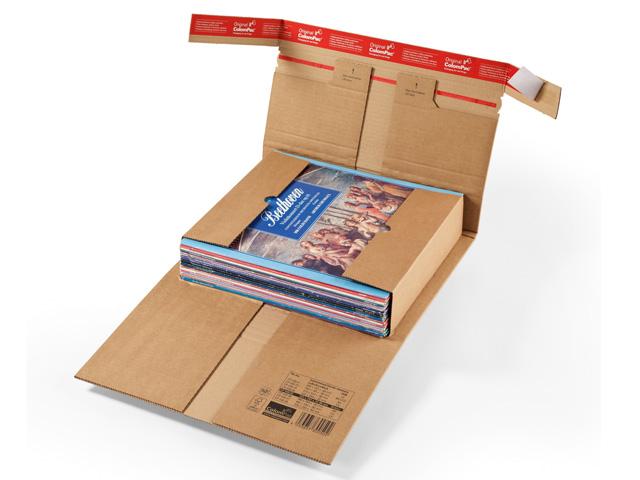 ColomPac CP 030 robuste Buchverpackung mit Sicherungslaschen - braun