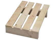 Holzeinwegpaletten 400x600 mm - Viertelpaletten - IPPC behandelt