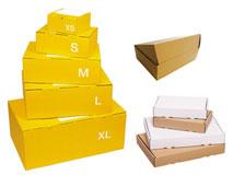 Postpakete / Versandboxen aus Wellpappe