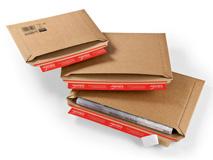 ColomPac CP 015 Versandtaschen aus Wellpappe Querbefüllung – braun