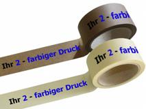 bedrucktes Papierselbstklebeband, mit 2-farbigen individuellem Druck