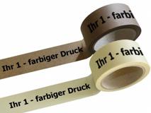 bedrucktes Papierselbstklebeband, mit 1-farbigen individuellem Druck