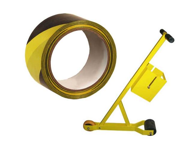 Bodenmarkierungsband und Abrollgerät