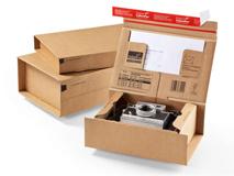 Paket Versandkarton aus WellPappe ColomPaC CP 066 und CP 067