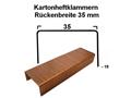 Heftklammern 35x18 mm (TYP B 3/4) - verkupfert