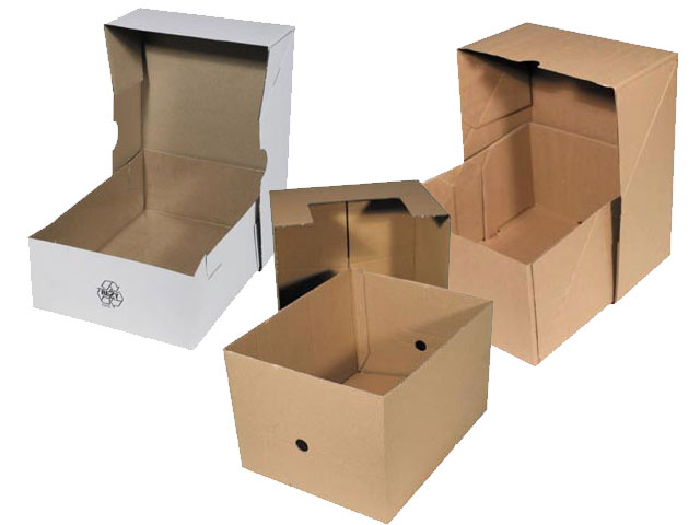 Aufrichteschachteln / Klimaschutzverpackungen für DIN-Formate