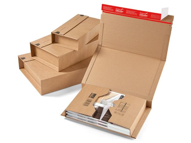 starke buchverpackung braun 305x230x92 mm colompac cp verpackungsmaterial. Black Bedroom Furniture Sets. Home Design Ideas