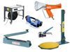 Verpackungsmaschinen, Geräte, Packtische und Schneidständer