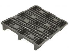 Kunststoffpaletten - 800x1200x145 mm - bis 2500 Kg belastbar - mit Rand