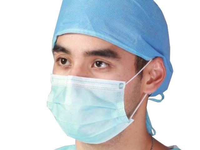 Medizinischer-Mundschutz, blau - 3-lagig