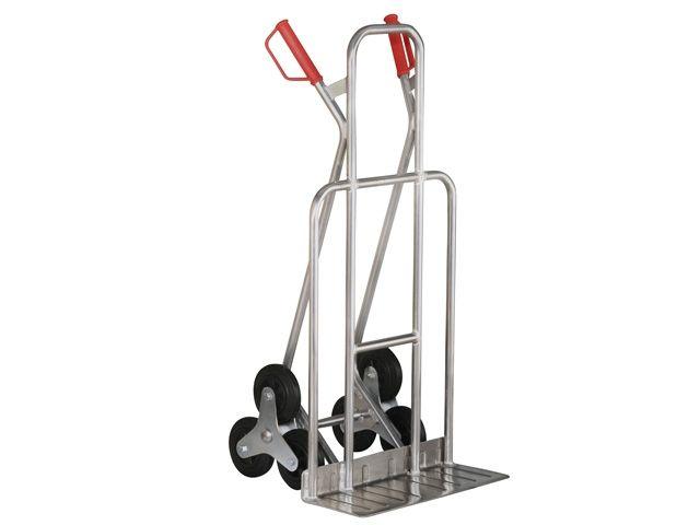Aluminium-Treppenkarre - mit Dreisternrädern und breiter Schaufel - Traglast bis 200 kg