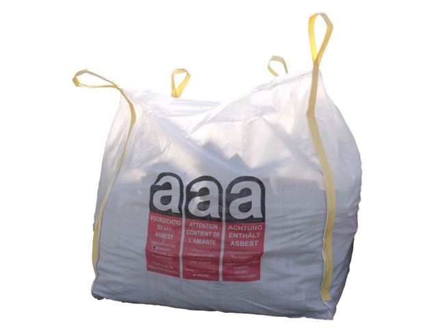 asbest big bags wei 110x110x115 cm 1500 kg verpackungsmaterial kartons klebeband. Black Bedroom Furniture Sets. Home Design Ideas