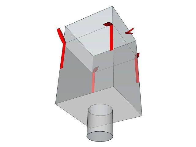 Big-Bags, weiß - 90x90x110 cm - 1000 Kg - mit Auslaufstutzen
