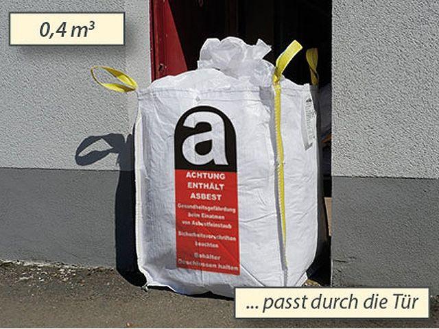 asbest big bags wei 70x70x90 cm 800 kg verpackungsmaterial kartons klebeband. Black Bedroom Furniture Sets. Home Design Ideas