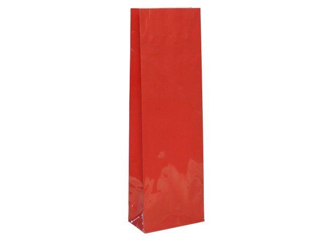 Blockbodenbeutel - rot - 80+50x252 mm - 250g