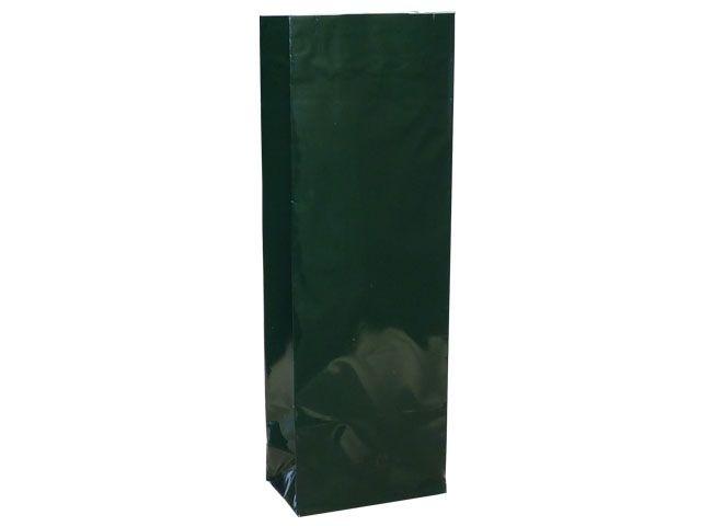 Blockbodenbeutel - grün - 55+30x175 mm - 50g