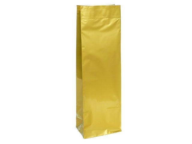 Blockbodenbeutel - gold - 105+65x295 mm - 500g