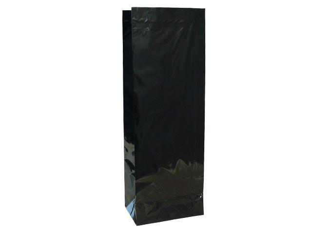 Blockbodenbeutel - schwarz - 105+65x295 mm - 500g