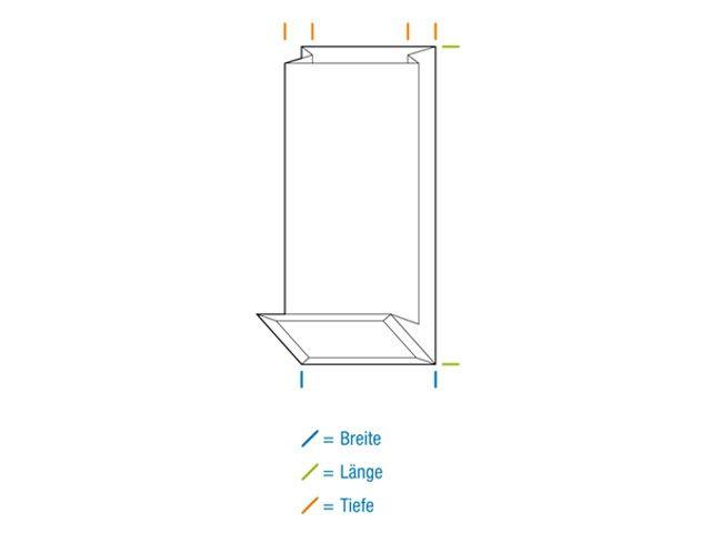 Blockbodenbeutel, braun - 80x50x250 mm - 250 g
