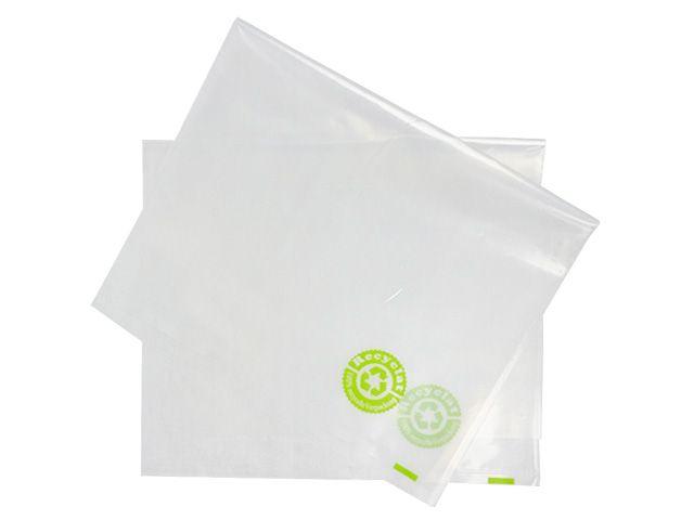 PE-Flachbeutel aus 100% Recyclat, transparent 400x600 mm - 100 µ