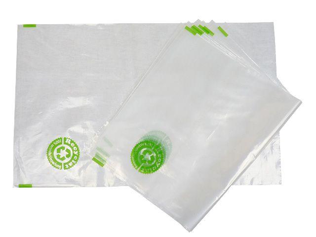 PE-Flachbeutel aus 100% Recyclat, transparent 400x600 mm - 50 µ