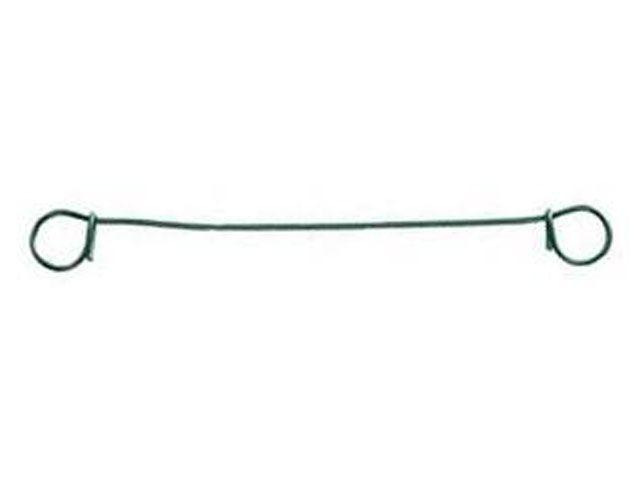 Drahtsackverschlüsse, grün - 100x1,0/1,4 mm