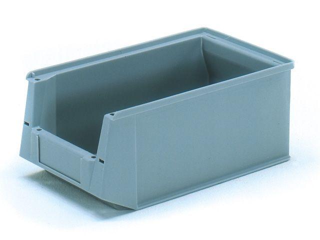 Sichtlagerkästen, grau - 350/300x210x145mm - Tragkraft 8 kg