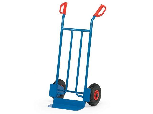 Fetra Stahlrohr-Sackkarre - mit Luftbereifung - Schaufelbreite 400 mm - bis 250 kg