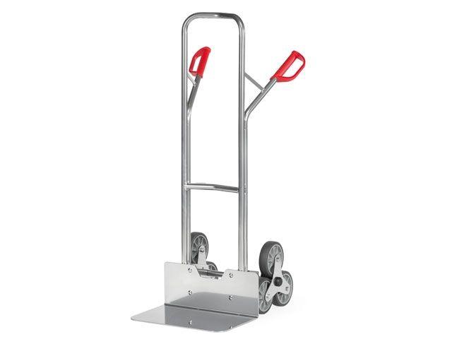 Fetra Aluminium-Treppenkarre - mit Dreisternrädern u. TPE-Bereifung - Schaufelbreite 480 mm - bis 200 kg