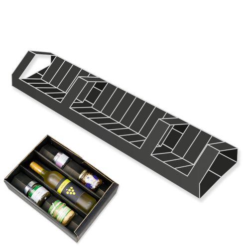 Variable Einlage für Geschenkkartons mit Standardeinlage - schwarz 380 mm